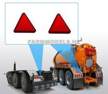 22126 reflector driehoek GROOT 2 stuks 3 x 3 mm