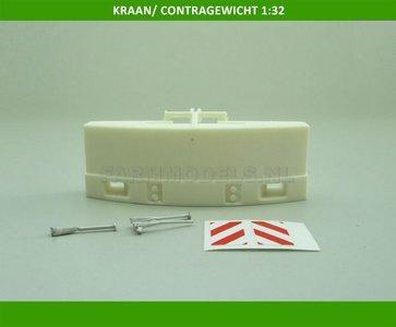 20705 Kraan gewicht / Contragewicht / gewichtblok hef bouwkit 1:32