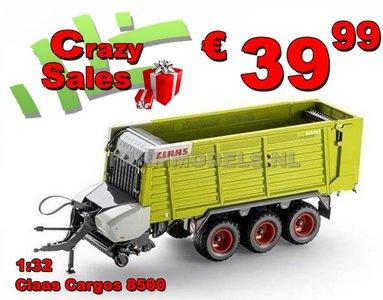Claas Cargos 8500 3 asser  Dubbeldoel- opraap- silagewagen 1:32  USK30022  SUPERSALE