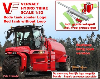 VERV-0220-SL+FG VERVAET Hydro Trike, RED Tank ZONDER VERVAET Logo + STOFLOOK 1:32 Die Cast model Marge Models - PRÉ-ORDER Expected end 2018