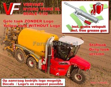 VERVAET Hydro Trike XL, GELE TANK ZONDER LOGO + STOFLOOK Lim.Ed. 1:32 Die Cast model Marge Models - PRÉ-ORDER VERWACHT BEGIN 2019 Artikelcode: MM1820