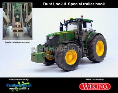JOH-4653-T-SL John Deere 6250R + Special Trailer Hook / Trekhaak + STOFLOOK, Wiking 2018 1:32 WK77836