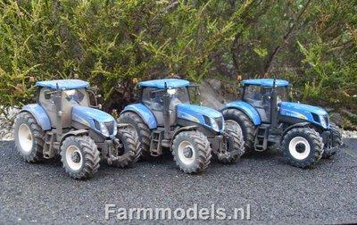 549. Loonbedrijf Ardjan van Liere met 3x New Holland T7070 (+ vervuilde look)