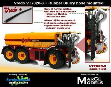 Vredo Trac VT7028-3 + RUBBER ZUIGARMSLANG + GRATIS ZUIGSLANG, 1:32  Marge Models - (MM1802VREDO)