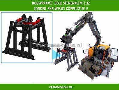 64391 BECO Stenenklem bouwkit, ZONDER KOPPELSTUK SNELWISSEL, geschikt voor Koppelstukken 64390 & ..... 1:32