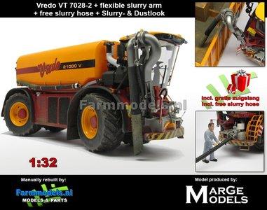 Rebuilt & Dirty: Vredo Trac VT7028-2 + RUBBER ZUIGARMSLANG + STOFLOOK + GRATIS ZUIGSLANG , 1:32 Die Cast model Marge Models - (MM1801VREDO)
