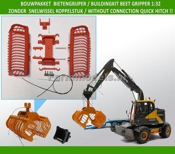 64380 Bouwkit Bietengrijper ORANJE, geschikt voor div. snelwisselsets 1:32 - 03113 O Zonder koppelstuk
