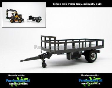 Rebuilt: Bakkenwagen GRIJS enkelasser geschikt voor div. mobiele kranen & shovels 1:32
