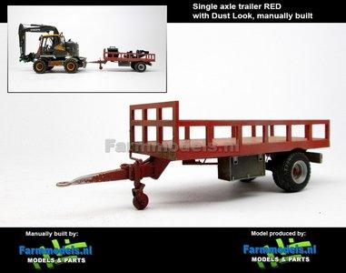 Rebuilt & Dirty: Bakkenwagen ROOD enkelasser + Stoflook geschikt voor div. mobiele kranen & shovels 1:32