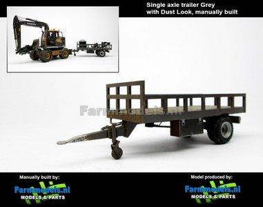 Rebuilt & Dirty: Bakkenwagen GRIJS enkelasser + Stoflook geschikt voor div. mobiele kranen & shovels 1:32