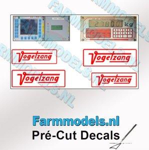 4x Vogelsang + 2x schermafbeelding stickers Pré-Cut Decals 1:32 Farmmodels.nl