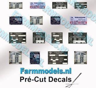 16x Chassisplaat stickers op Transparant Pré-Cut Decals 1:32 Farmmodels.nl