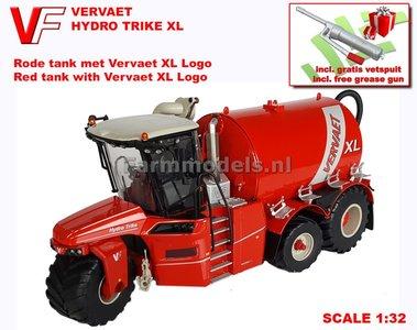 VERVAET Hydro Trike XL, RED TANK + XL LOGO 1:32 Die Cast model Marge Models  MM1820