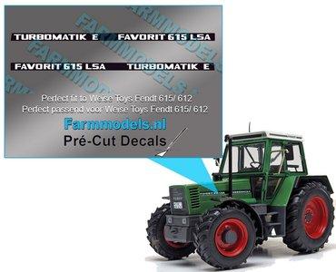 2x FAVORIT 615 LSA TURBOMATIC E type stickers Pré-Cut Decals 1:32 Farmmodels.nl