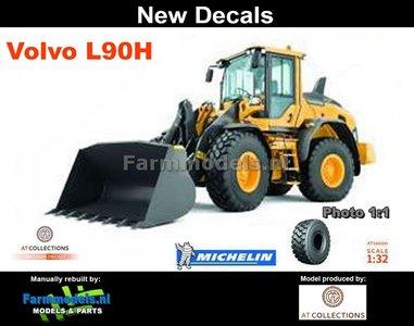 New Decals: Volvo L90H Shovel, Michelin banden + snelwissel + bak 1:32  AT3200120-N  verwacht Maart 2019
