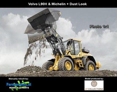 New Decals & Dirty Volvo L90H Shovel + STOF- & SLIJTLOOK + Michelin banden versie + snelwissel + bak  1:32 AT3200120-ND  Verwacht Maart 2019
