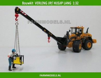 Verleng Jip Shovel Bouwkit, geschikt voor koppeling snelwissels 55001 t/m 55050 & Volvo VAB-STD 1:32