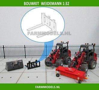 Palletvork setje BOUWKIT t.b.v. snelwissel set nr. 50300-50325 Mini shovel (Weidemann Siku) 1:32