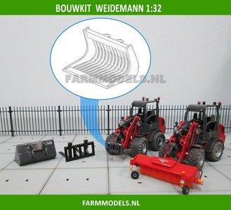 Puinriek bakje BOUWKIT t.b.v. snelwissel set nr. 50300-50325 Mini shovel (Weidemann Siku), 1:32