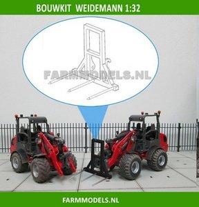 Hooivorkje BOUWKIT t.b.v. snelwissel set nr. 50300-50325 Mini shovel (Weidemann Siku), 1:32