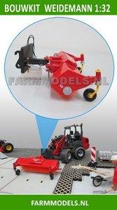 Veegmachine + snelwisselset BOUWKIT t.b.v. mini shovel (Weidemann) snelwisselset nr. 50300-50325 1:32