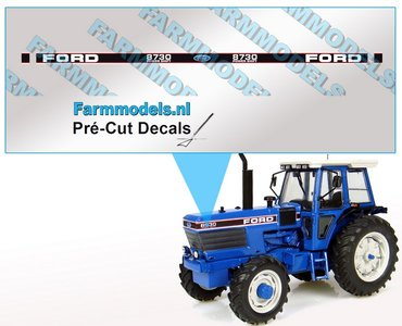 FORD 8730 POWER SHIFT UH Pré-Cut Decals 1:32 Farmmodels.nl