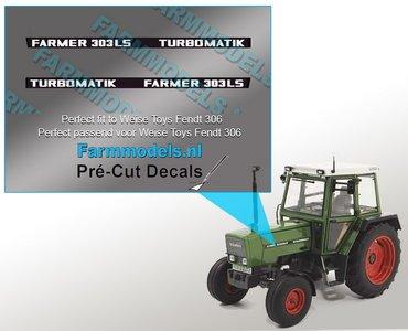 FARMER 303 LS TURBOMATIK type stickers Pré-Cut Decals 1:32 Farmmodels.nl