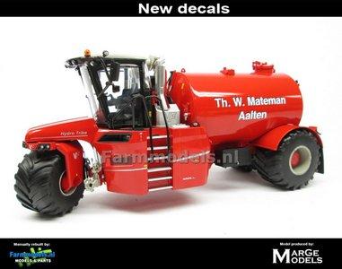 ND-VERVAET Hydro Trike, RED TANK + Th. W. Mateman LOGO 1:32 Marge Models  MM1819-Mateman-3