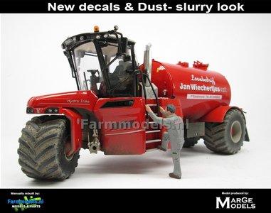 Dirty & ND-VERVAET Hydro Trike, RED TANK + STOF- & MESTLOOK + Wiechertjes LOGO 1:32 Marge Models  MM1819-Wiechertjes-3-D