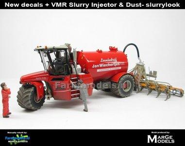 COMBISET: Dirty & ND-VERVAET Hydro Trike STOF- & MESTLOOK + VEENHUIS Bouwlandbemester (Verkruimelrollen) RED TANK + Wiechertjes LOGO 1:32   MM1819-Wiechertjes-3-COMBI-D