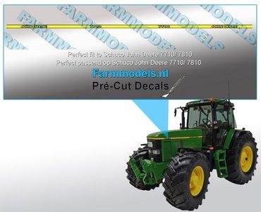 John Deere 7700 type stickers, geschikt voor de John Deere 7710/ 7810 Schuco/ Pré-Cut Decals 1:32 Farmmodels.nl