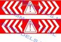00029-2x-Verdrijvingsstrepen-met-pas-op-teken-33-mm-breed