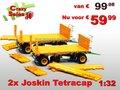 65032**-Combi:-2x-Joskin-Tetra-CAP-4-Wielige-wagen-SUPERPRIJS!!!!-1:32