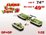 52054-Claas-Disco-3500-+-Disco-9100-Triple-maaier-1:32-Superstuntprijs-OP=OP