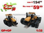 57010**-Combiset-CAT-powered-Challenger-MT975E-Kniktractor-+-Challenger-MT765D-versie-2012-1:32-Farmmodels-Crazy-Sales-Weken
