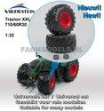 34602-F+B-Vredestein-Traxion-XXL-710-60R30-(vooras)-banden-+-(Vredestein-in-licht-grijs)-+-Fendt-rode-velgen-+-grijze-eindvertraging-Ø-51-mm--1:32-Universele-set
