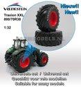 36162-F+B-Vredestein-Traxion-XXL-800-70R38-banden-+-Vredestein-in-licht-grijs-Fendt-rode-achteras-velgen-+-banden--Ø-64.9-mm-1:32-Universele-set
