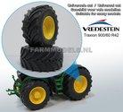 36480-JD+B-Vredestein-Traxion-900-60-R42-(achteras)-banden-+-JD-Geel-Diecast-velgen-+-Ø-68.2-mm--1:32-Universele-set