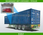 28196--40ft-Container-+-Trailer-Bouwpakket-incl.-12x-(dubbellucht)-banden-+-velgen-+-eind-doppen-1:32