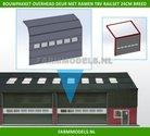 88497-1x-Overhead-Deur-+-6-Ramen-=-6-platen-+-10-scharnieren-+-Ramen-t.b.v.-railset-24-cm-breed--BOUWKIT--Kunststof-wit-t.b.v.-(bewaar-)-loods-stal-kantoor-huis-1:32