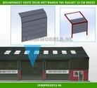 88474-1x-Overhead-Deur-ZONDER-Ramen-=-6-platen-+-10-scharnieren-t.b.v.-railset-15-cm-breed--BOUWKIT--Kunststof-wit-t.b.v.-(bewaar-)-loods-stal-kantoor-huis-1:32
