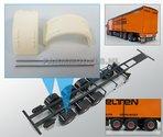 29934-(Super-Single)-Half-Ronde-Spatborden-set-+-Ø-1.6-mm-aluminium-pijp-t.b.v.-kieper-trailer--Resin-1:32-verwacht-Expected