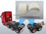 29745-Brede-Half-Ronde-Spatborden-set-t.b.v.-Dubbellucht-(Truck-Trailer)-banden-+-Ø-1.6-mm-aluminium-pijp-Resin-1:32