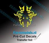 Scania-Griffioen-BANANA-GELE-FOLIE-(Transferfolie)-19x38mm-voorgesneden-sticker-via-applicatie-folie-aan-te-brengen