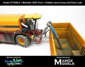 Vredo-Trac-VT7028-2-+-MICHELIN-1050-Banden-+-BLAUWE-RUBBER-ZUIGARMSLANG-+-STOF--&-MESTLOOK-1:32-Marge-Models-(MM1801VREDO)