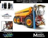 Vredo-Trac-VT7028-3-op-Vredestein-Banden-+-BLAUWE-RUBBER-ZUIGARMSLANG-1:32-Marge-Models-(MM1802VREDO)