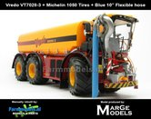 Vredo-Trac-VT7028-3-+-MICHELIN-1050-Banden-+-BLAUWE-RUBBER-ZUIGARMSLANG-1:32-Marge-Models-(MM1802VREDO)