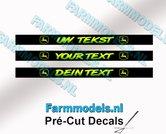 UW-TEKST-3x-Voorruitstickers-John-Deere-stijl-SIERLETTERS-Pré-Cut-Decals-met-uw-opgegeven-tekst-1:32-Farmmodels.nl