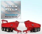 2x-MAXXIM-Witte-letters-met-zwarte-schaduw-hoogte-4.3-mm-stickers--Pré-Cut-Decals-1:32-Farmmodels.nl