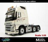 Rebuilt-25-YEAR-edition-WHITE-3-Axle-Volvo-FH16-1:32---MM1811-01-R